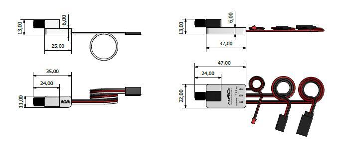 FORCE Ignition Cutoff dimensions